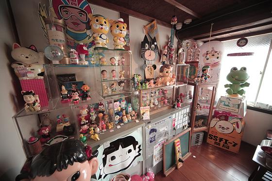 レトロアイテムの展示室