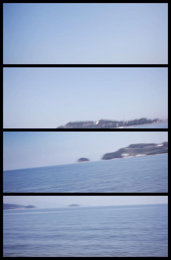 津田の松原の海と島